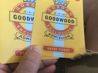 2 tickets to Goodwood horse racing 25th August