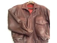 Mans Brown Leather Jacket