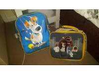 secret life of pets bag and lunch box