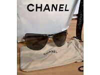 Ladies Genuine Chanel Aviator Sunglasses Cost £300 From Harrods 4141 Q 108/87
