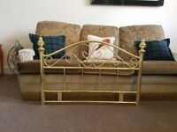 Gold Royal Metal Headboard. Almost new. £30 ONO
