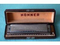 HOHNER Chromonika 111 Genuine 64 Tone (c1954) Rare Harmonica. Working order.