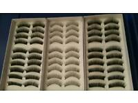 27 boxes of false eyelashes 10 pairs in each box