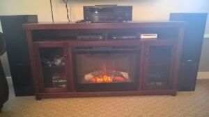 Electric Fireplace TV Stand and Cabinet
