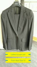 Ladies trouser suit from Next Size 10