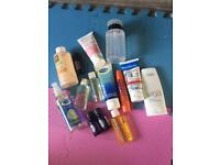 Bundle of new & used toiletries & cosmetics m