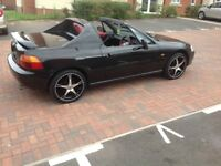 BLACK HONDA CRX DELSOL TRANSTOP ( R13 CRX) Turbo,Vti,type r civic