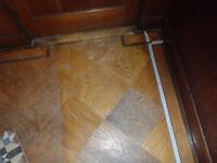 1930's reclaimed flooring - wooden, oak tiles.