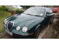 Jaguar S-Type V6 Auto Green. Great Condition and Drives Perfectly. New MOT