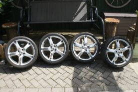 """4 × 17"""" BK Racing alloy wheels with 4 x sport-one tyres"""
