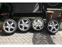 "4 × 17"" BK Racing alloy wheels with 4 x sport-one tyres"