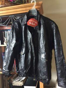 Leather jacket large size