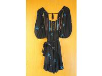 cute black dress tunic from Zara in Size M