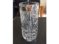Hand Cut Crystal Vase