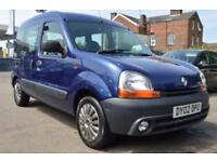RENAULT KANGOO 1.9 AUTHENTIQUE 5d 65 BHP 2 KEY PX TO CLEAR (blue) 2002