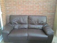 Leather 3seater sofa