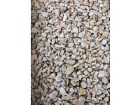 Cotswold buff stones/gravel.