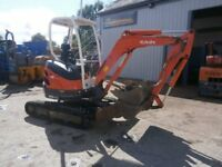 Kubota U20-3 Mini Digger 3 Buckets Adjustable Track