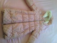 Girls pink coat 9-10 years