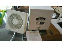 6 X manrose(6'')150mm XFA150BTP extractor fan with auto timer,pullcord RRP:£1050