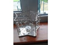 wire star shaped candle holders x18