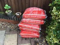 6 bags Dry Pavior Sand