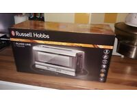 BRAND NEW RUSSELL HOBBS GLASS LINE TOASTER