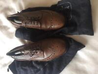 Mens leather brogues