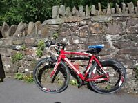 Bianchi Road Bike With Zipp Carbon Wheels