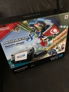 Wii U - black 32gb Mario Kart 8 bundle