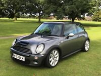 Mini Cooper S R53 - Dark Metallic Grey, Half Leather Interior.