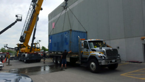 Heavy float/ flatbed tilt and load  equipment relocation