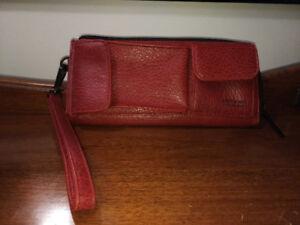 Matt and Nat Multi Pocket Red Wallet in Vegan Leather