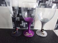 Unique personalised wine glasses
