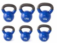 Cast Iron Coated Kettlebells, Coated Cast Iron From only £8.00: NEW