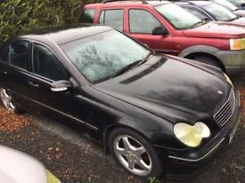 2002 Mercedes C220 CDI automatic for spares or repairs, good engine & gearbox ,credit cards accepted
