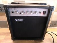"""ACOUSTIC SOLUTIONS"" GA 20W AMPLIFIER AND LEAD"
