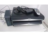 2 x Sky+ HD boxes + 2 remotes + wireless connector + router