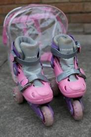 Girls Roller Skates (Age 4-5) with bag