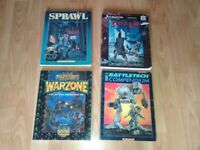 4 x rpg role playing books 80's shadowrun sprawl sites / mutant chronicles /spe
