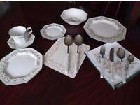 74 piece Eternal Beau Dinner Service inc Cutlery and Place Mats.