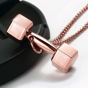 Fitness Jewelry - Dumbbell Necklace | Rose Gold, Black, Silver