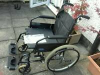 Invacare Folding Manual Wheelchair.