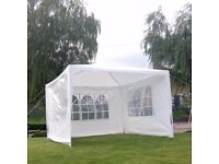 3Mx3M PE Garden Gazebo Marquee Canopy Awning Party Wedding Tent Outdoor New £45ono