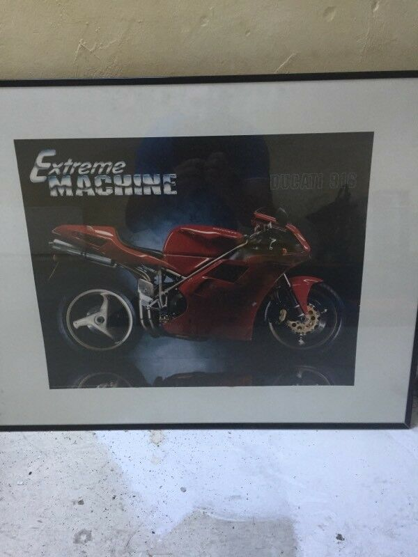 Picturein Keith, MorayGumtree - Large picture of Ducati motorcycle still in good condition looks good in any room