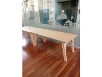 29 Handmade solid wooden tables (sold as seen)
