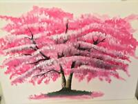 Cherry Tree - Acrylic Painting on Canvas