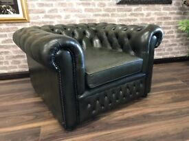 Chesterfield Club Chair - Vintage Green