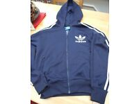Adidas Navy Hooded Top Size S