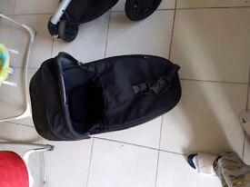 Black quinny buzz pram and stroller